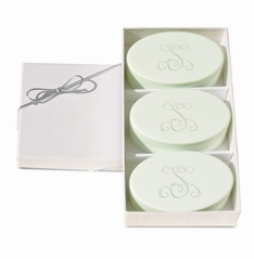 Personalized Spa Soaps, Green Tea and Bergamot Trio
