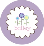 personalized spring flowers plate(style 1p)