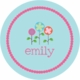 personalized spring flowers plate(style 2p)