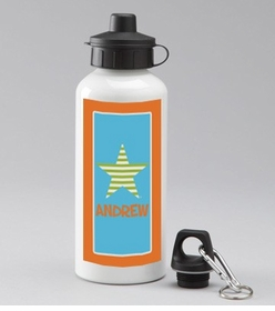 personalized star bottle for boys