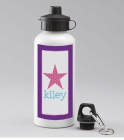 personalized star water bottle