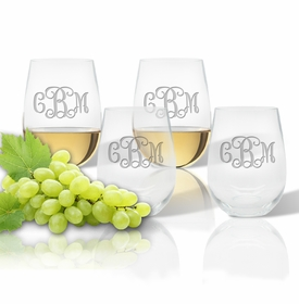 Personalized Stemless Wine Tumbler (SET OF 4) (unbreakable)