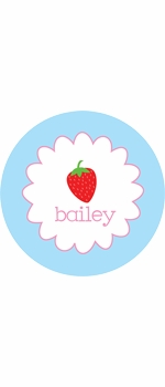 personalized strawberry plate (style 1p)