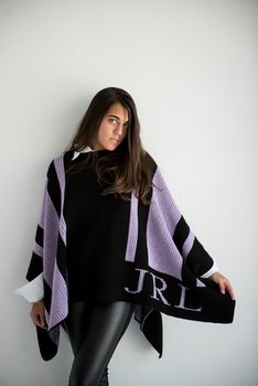 personalized striped blanket poncho