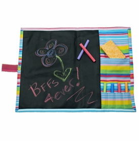 personalized striped chalkboard placemat
