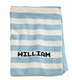 personalized striped knit blanket with name
