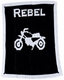 personalized stroller blanket with name and vintage motorcycle
