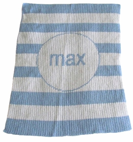 personalized stroller blanket with stripe