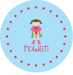 personalized super girl plate (style 1p)