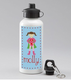 personalized super girl water bottle