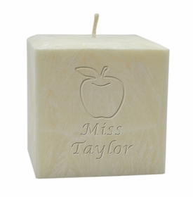 personalized teacher palm wax candle - 4 inch