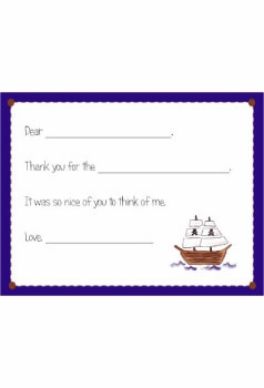 personalized thank you notes – pirate fill-in thank you