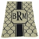personalized the sophisticate stroller blanket