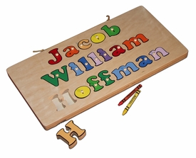 personalized three line name puzzle