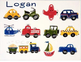 personalized traffic jam wall art