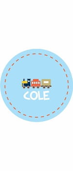 personalized train boy plate (style 2p)