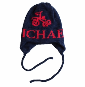 personalized Tricycle Hat with Earflaps