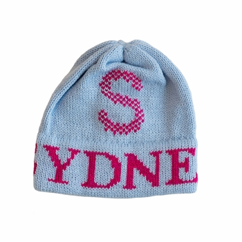personalized Tweed Initial Hat
