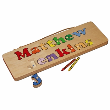 personalized two line name puzzle
