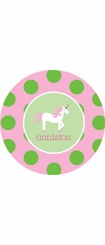 personalized unicorn plate (style 1p)