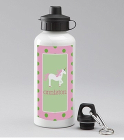 personalized unicorn water bottle