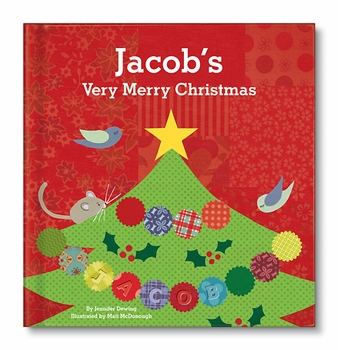 personalized very merry christmas book