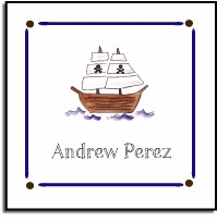 personalized vinyl labels - ahoy matey