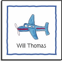 personalized vinyl labels - airplane