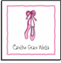 personalized vinyl labels - ballerina girl