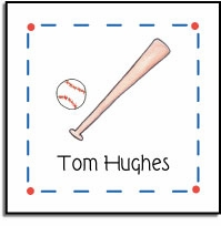personalized vinyl labels � baseball buff