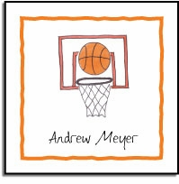 personalized vinyl labels � basketball star