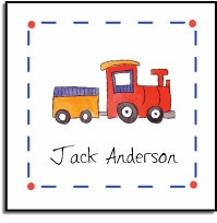 personalized vinyl labels � choo choo