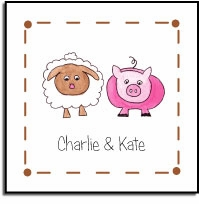 personalized vinyl labels � farm friends