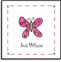 personalized vinyl labels � flutter butterfly