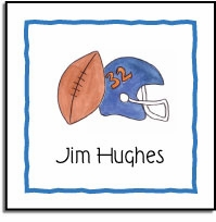 personalized vinyl labels � football fanatic
