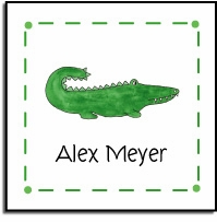 personalized vinyl labels � green gator
