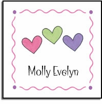 personalized vinyl labels � hearts are wild