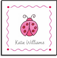 personalized vinyl labels � little ladybug