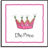 personalized vinyl labels � little princess