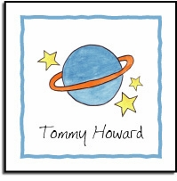 personalized vinyl labels � outer space