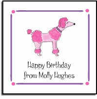 personalized vinyl labels � pink poodle