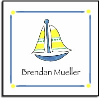 personalized vinyl labels � sailboat