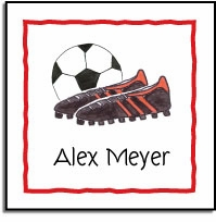 personalized vinyl labels � soccer stud
