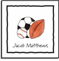 personalized vinyl labels � sports fan