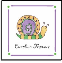 personalized vinyl labels � swirly snail