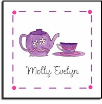 personalized vinyl labels � tea party