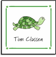 personalized vinyl labels � tiny turtle