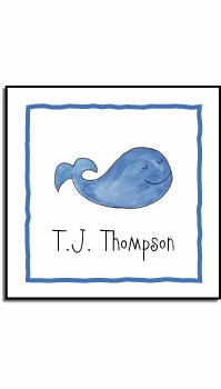 personalized vinyl labels – whale of a time