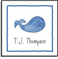 personalized vinyl labels � whale of a time