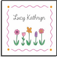 personalized vinyl labels � wildflowers